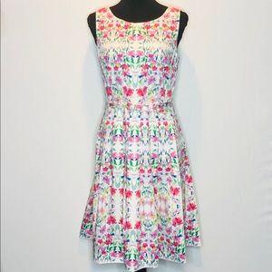 Talbots Floral Fit & Flare Dress. D091